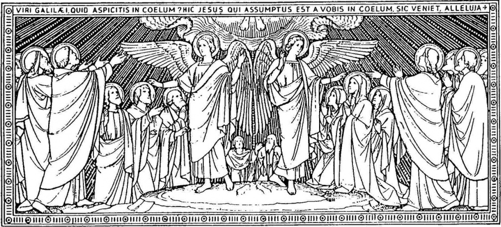 Angels Asking Apostles and Disciples a Question After the Ascension 001