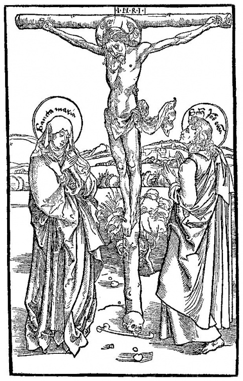 Christ on the Cross Rood scene.Canon Cut