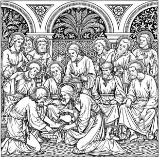 Jesus Washing of Feet of the Apostles 003